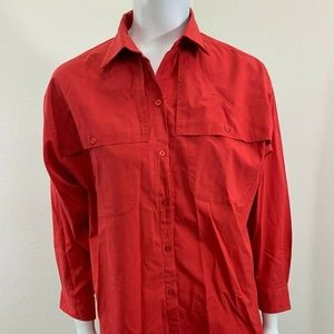 Diane Von Furstenberg DVF Shirt Career Blouse Flap